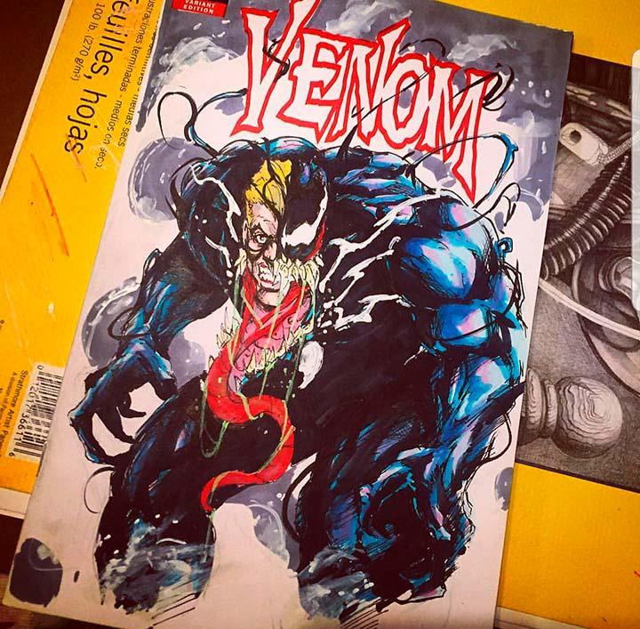 Venom Sketch Cover by Armando Ramirez