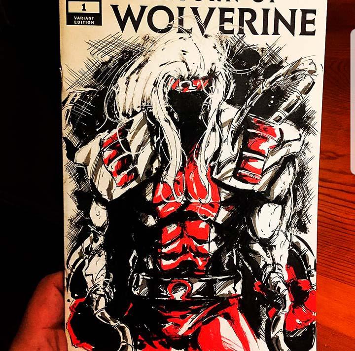 Wolverine Sketch Cover by Armando Ramirez