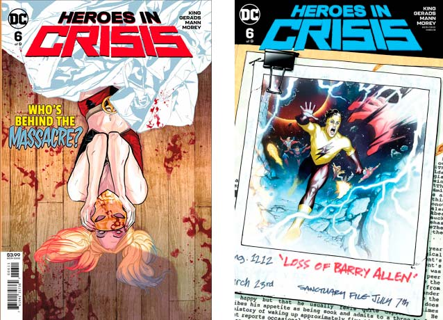 Heroes In Crisis #6 Cover A and B