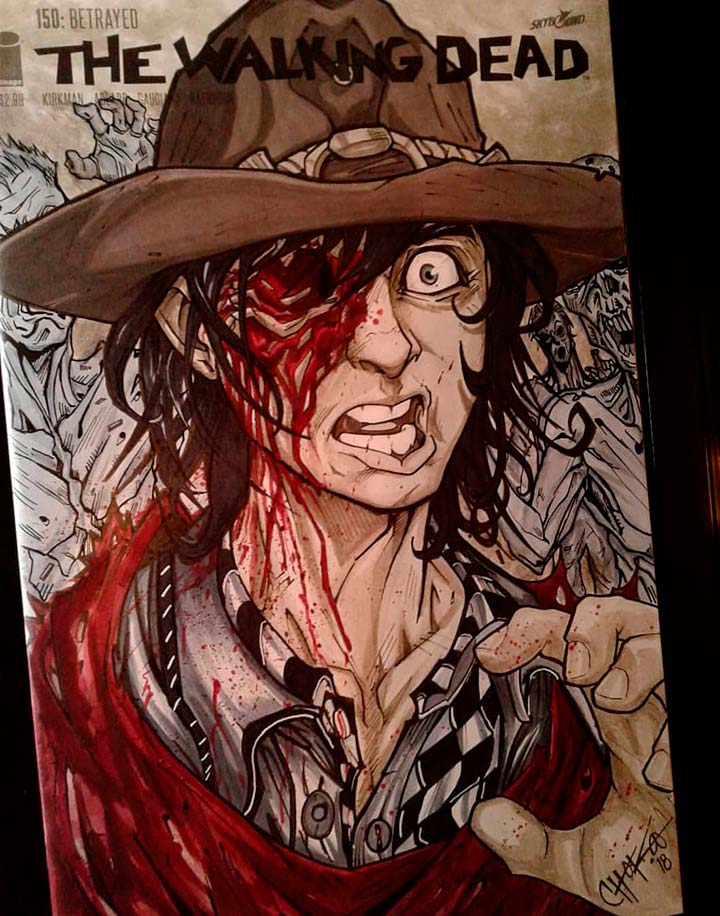 The Walking Dead sketch cover