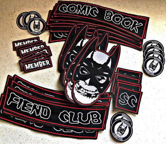 Comic Book Fiend Club Patches