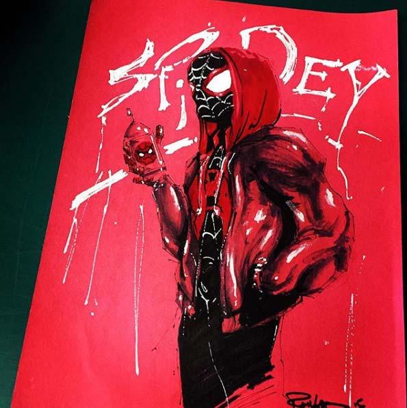 Miles Morals Sketch Cover by Armando Ramirez