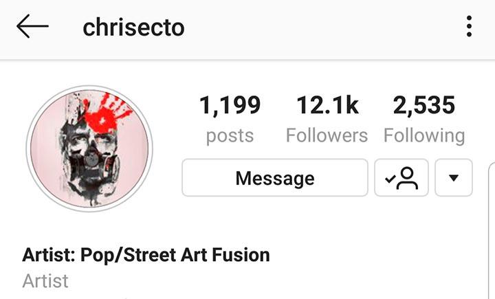 Chris Ecto Art Instagram