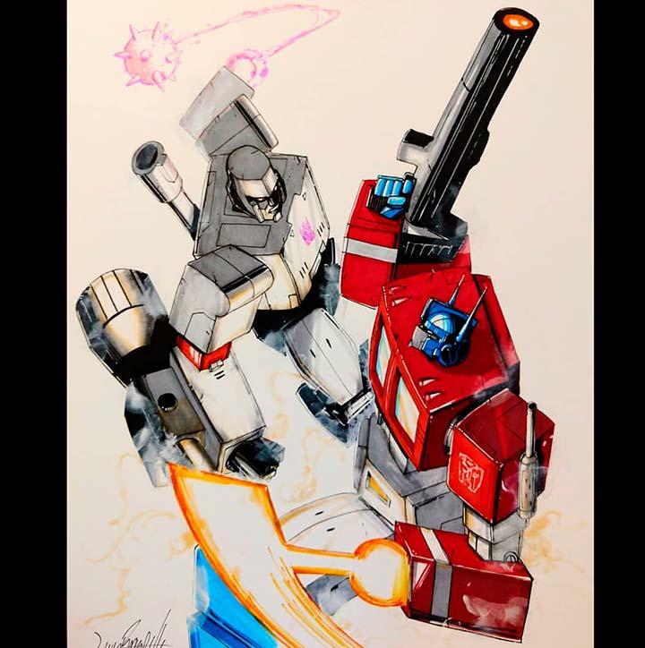 Livio Ramondelli Transformers Art