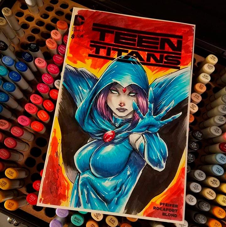 Teen Titans black sketch