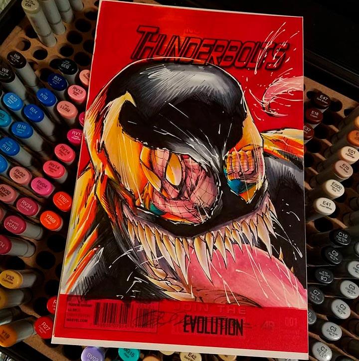 Venom and Spiderman Cover