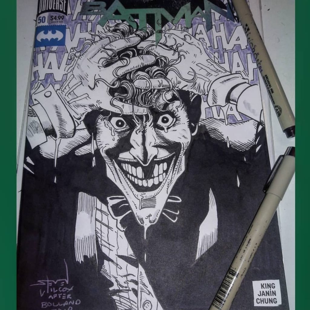 Joker on batman sketch cover