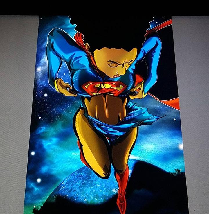 super girl art