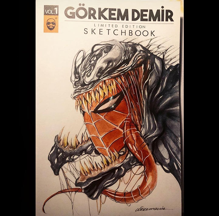 Venom Spiderman by Gorkem Demir