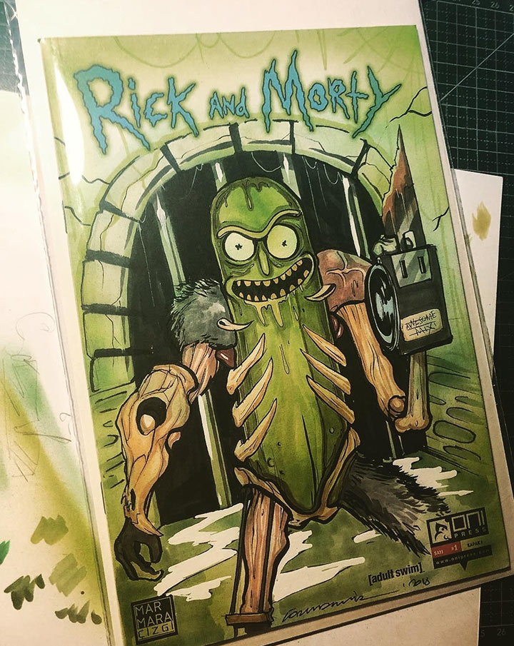Pickle Rick by Gortem Demir