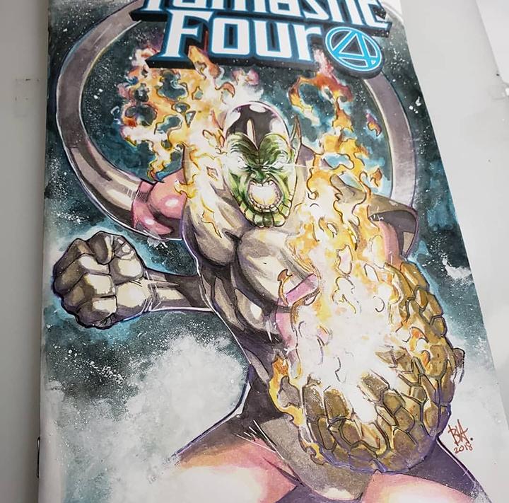 fantastic four sketch cover
