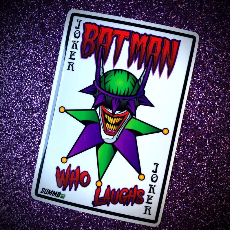 batman who laughs playing card
