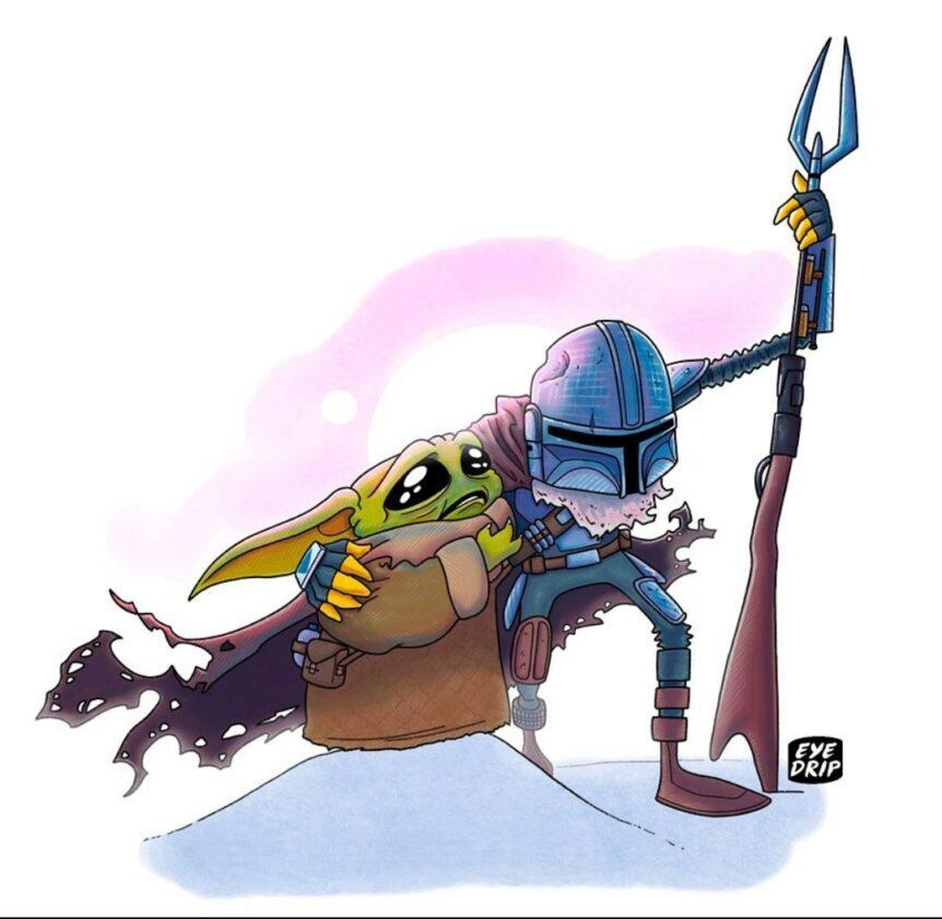 Star Wars mando baby Yoda