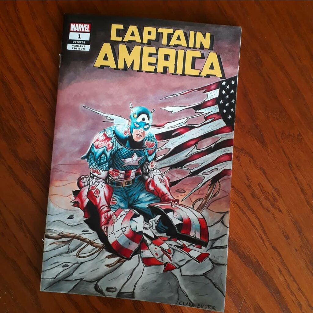 Captain America sketch cover